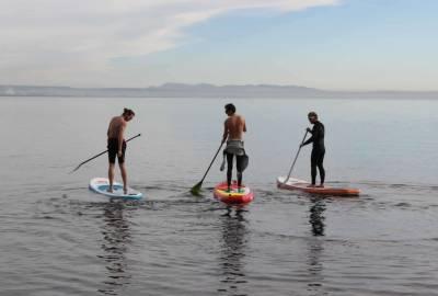 Paddle sur l'étang de Berre