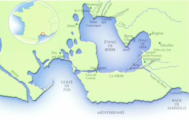 plan de situation des masses d'eau concernées