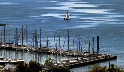 France Bouches du Rhône Etang de Berre Les ports de pêche et de plaisance – St. Chamas Septembre 2010